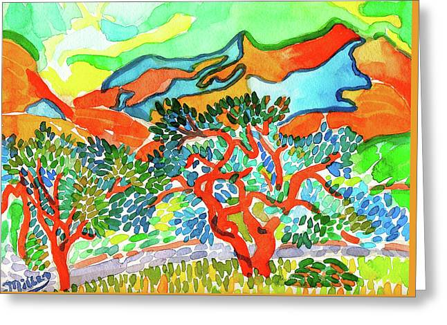Mountains At Collioure Greeting Card