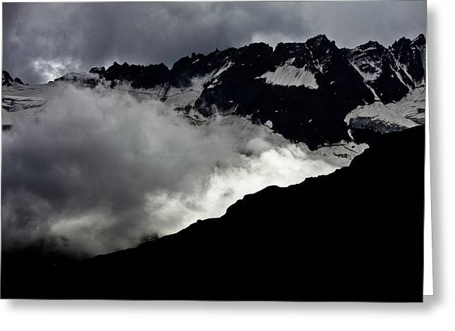 Mountains Clouds 9950 Greeting Card