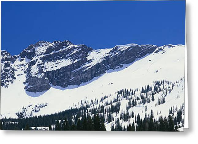 Mountains Covered With Snow, Little Greeting Card