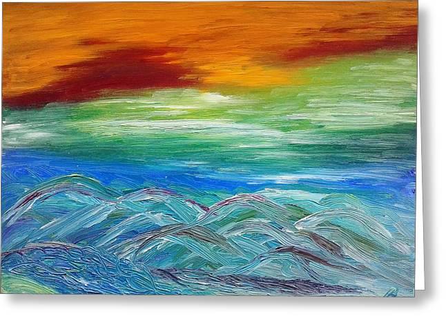 Mountains. Fantasy Greeting Card