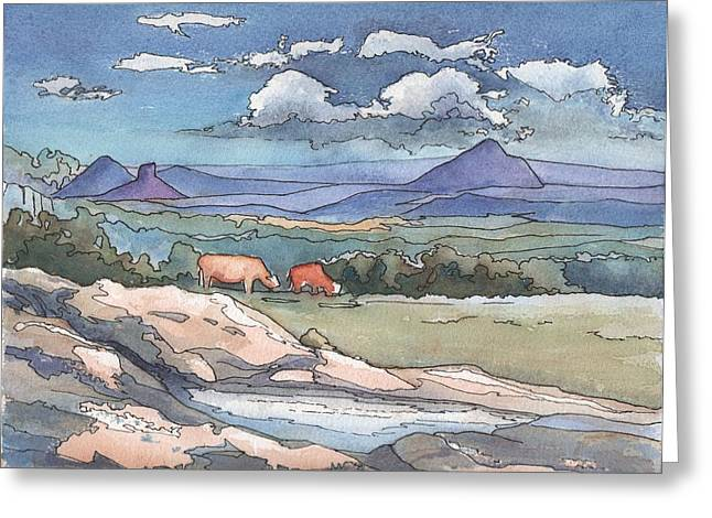 Mountains From Maleny Greeting Card by Robynne Hardison