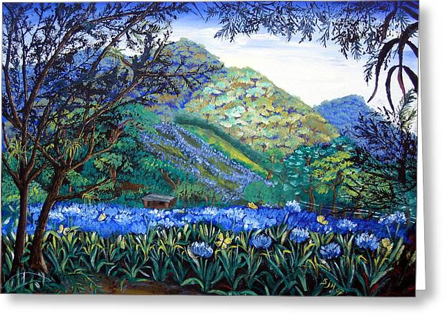 Mountains In Blue Greeting Card