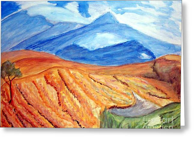 Mountains In Mexico Greeting Card by Stanley Morganstein