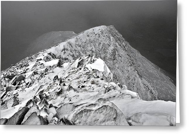 Mountains In Troms, North Of Norway Greeting Card