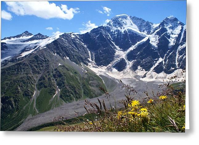 Alpine Skiing Prints Greeting Cards - Mountains Greeting Card by Iurii Zaika