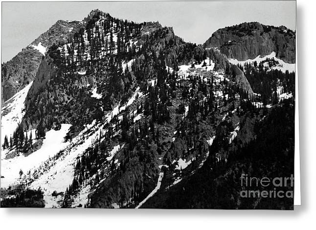 Mountains Greeting Card by Juls Adams