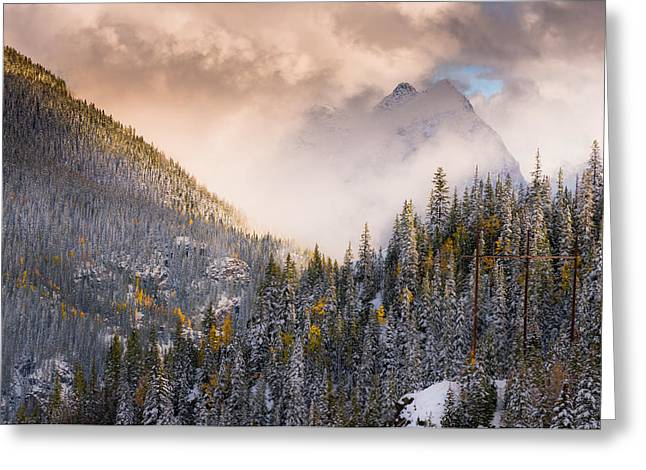 Mountains Light Greeting Card