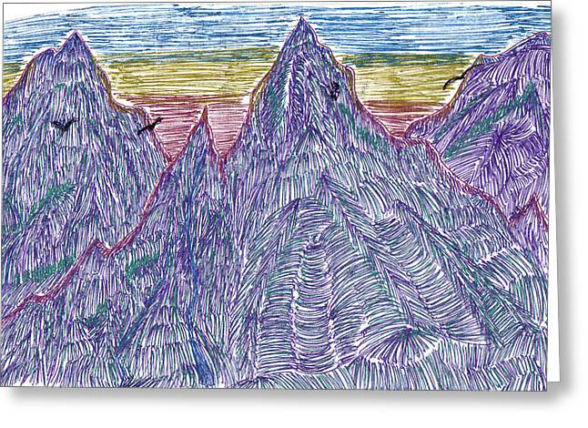 Mountains Greeting Card by Lynnette Jones