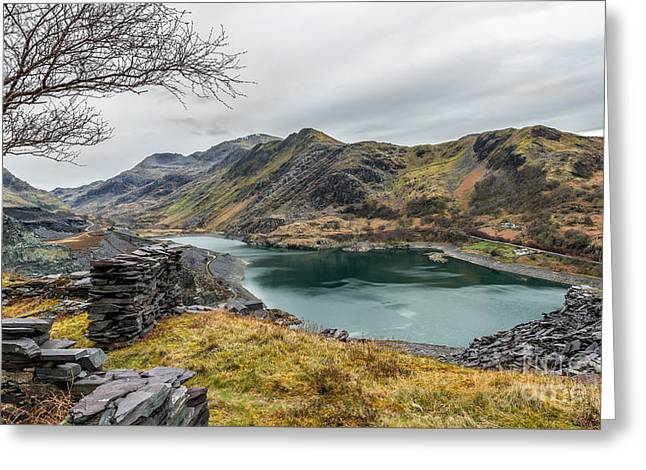 Mountains Of Snowdonia Greeting Card by Adrian Evans
