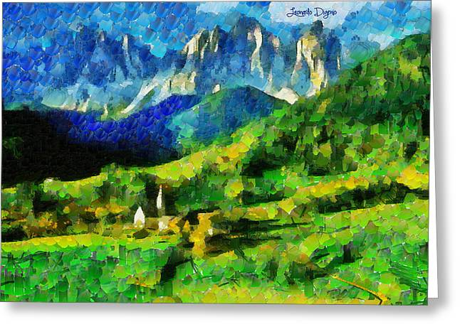 Mountains Paradise - Pa Greeting Card by Leonardo Digenio