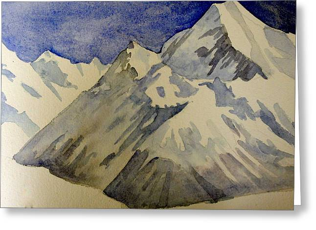 Mountains Greeting Card by Steven Holder