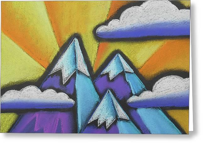 Mountaintop Greeting Card by Leon Zernitsky