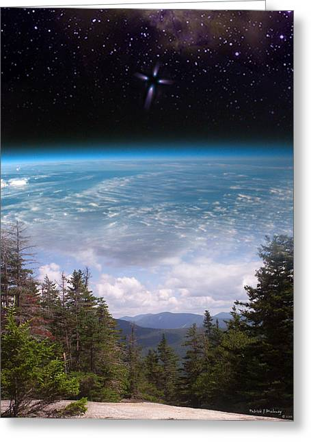 Mountaintop Space View Greeting Card by Patrick J Maloney