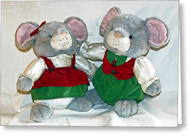 Mouse Love Greeting Card by Allan  Hughes