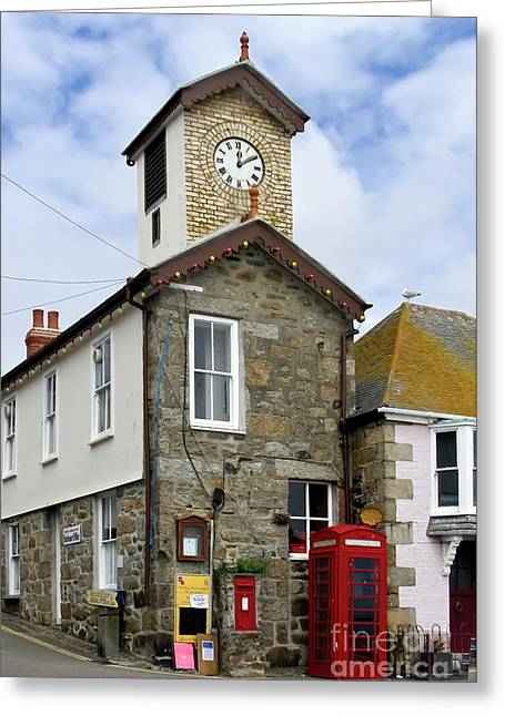 Mousehole Communications Centre Greeting Card by Terri Waters