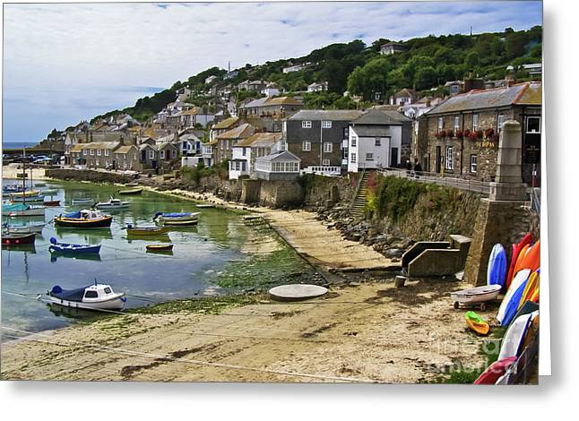 Mousehole Harbour, Cornwall Greeting Card