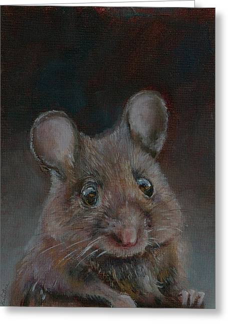 Mousekawitz Fine Art Print Greeting Card by Kim Guthrie