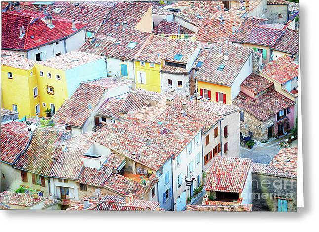 Moustiers Sainte Marie Roofs Greeting Card by Anastasy Yarmolovich