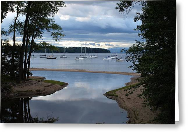 Mouth Of The Salmon River Greeting Card