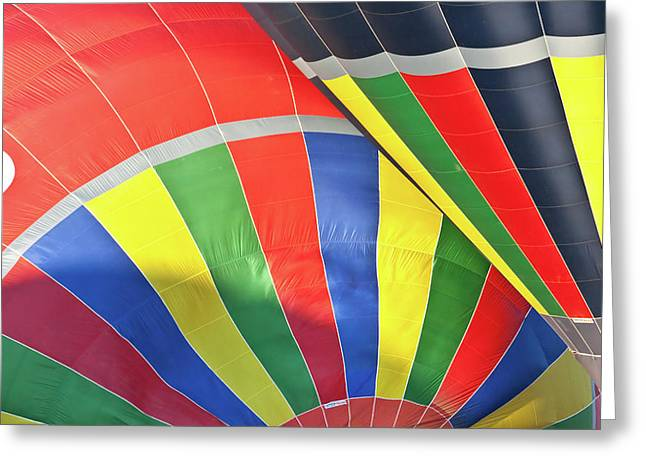 Hot Air Balloons Greeting Cards - Move Over Greeting Card by Brian Roscorla