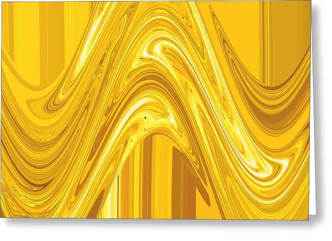 Moveonart Golden Light Wave Greeting Card by Jacob Kanduch