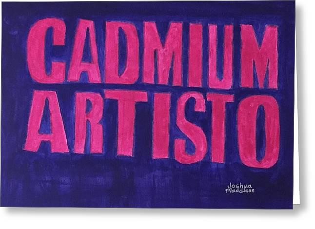 Movie Logo Cadmium Artisto Greeting Card