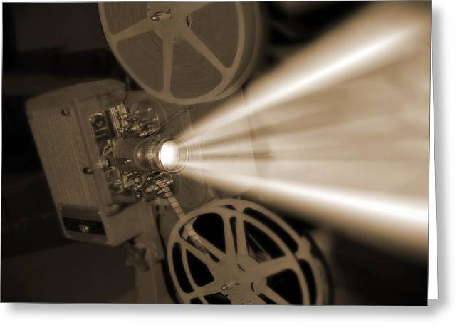 Mike Mcglothlen Greeting Cards - Movie Projector  Greeting Card by Mike McGlothlen
