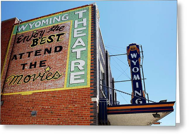 Movie Sign 1 Greeting Card by Marilyn Hunt