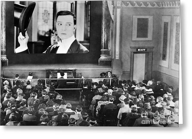 Pianist Photographs Greeting Cards - MOVIE THEATER, 1920s Greeting Card by Granger
