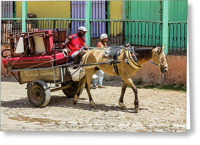 Moving Day In Trinidad Greeting Card