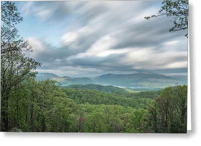 Moving Over The Blue Ridge Mountains Greeting Card