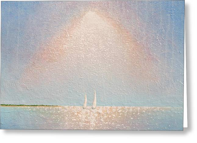 Sailboat Art Greeting Cards - Moving With Spirit Greeting Card by Jaison Cianelli