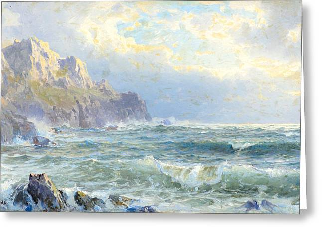 Moye Point Guernsey Channel Islands Greeting Card