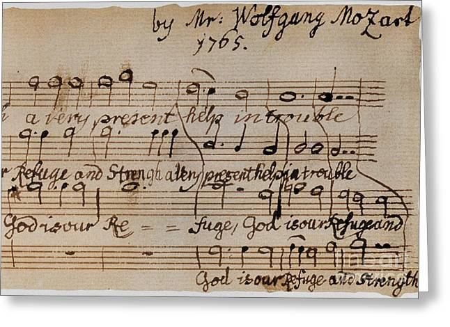Mozart: Motet Manuscript Greeting Card