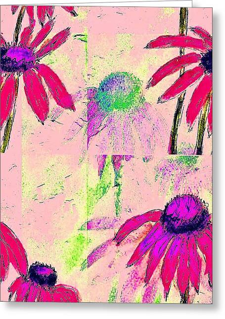 Mprints - Daisies 1 Greeting Card by M  Stuart