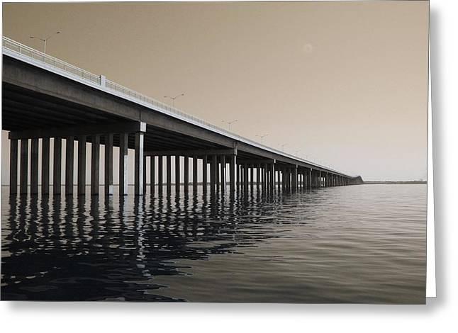 Mprints - Hwy 90 Bridge Greeting Card