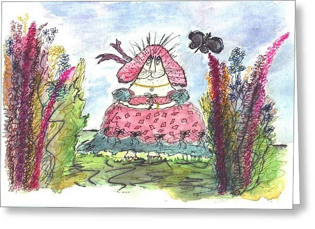 Mprints - Southern Belle Greeting Card by M  Stuart