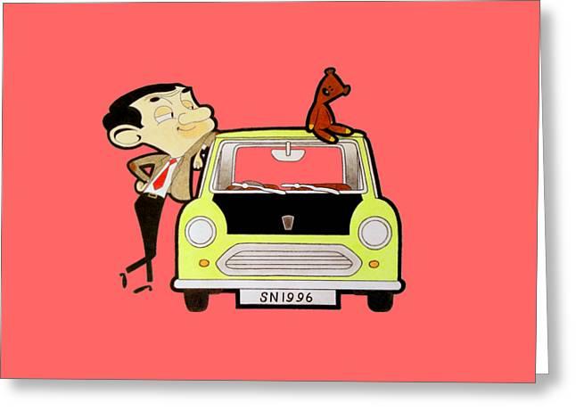 Mr. Bean Drawing Greeting Card