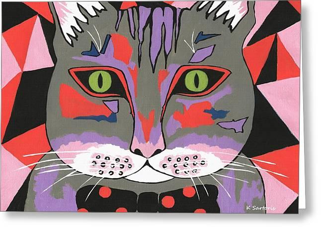 Mr Cat - Cute Animals Greeting Card