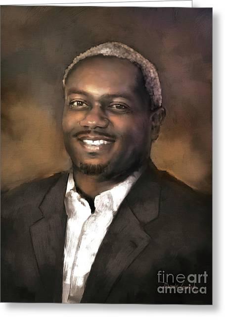 Greeting Card featuring the digital art Mr. Dedrick J. Sims by Dwayne Glapion
