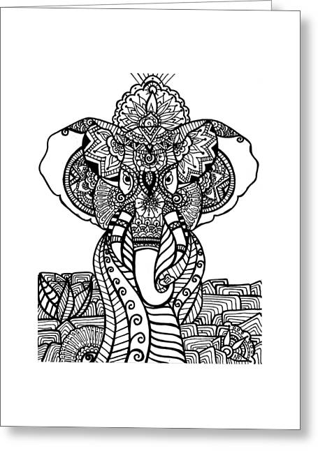 Mr. Elephante Greeting Card