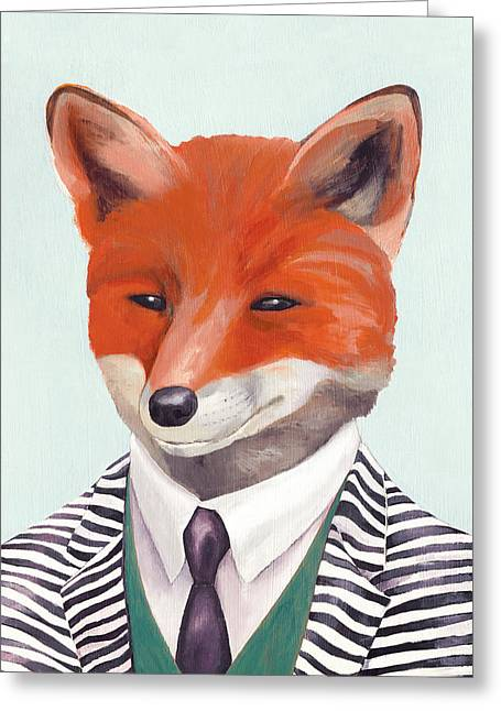 Mr Fox Greeting Card by Animal Crew