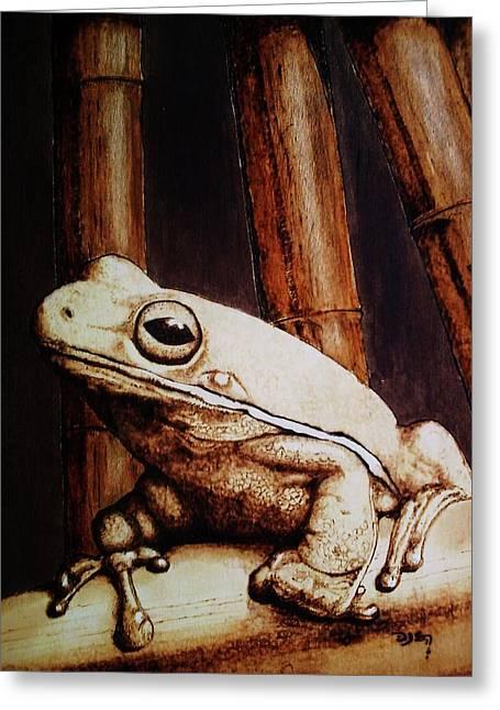 Mr. Frog Greeting Card by Freddy  Smith