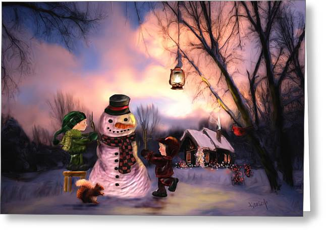 Mr. Frosty Greeting Card