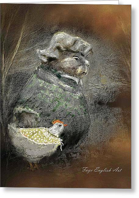 Mr. Groundhog And Miss Chick Greeting Card