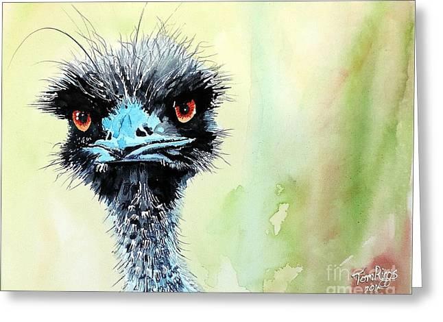 Mr. Grumpy Greeting Card by Tom Riggs