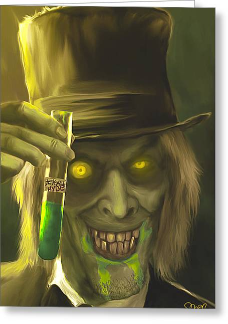 Mr Hyde Mark Spears Monsters Greeting Card by Mark Spears