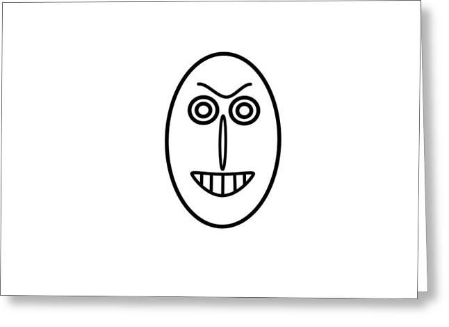Mr Mf Has A False Smile Greeting Card
