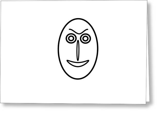 Mr Mf Is A Little Bit Friendly  Greeting Card