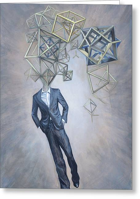 Mr. Octahedron Iteration 1 Greeting Card by Vincent Fink